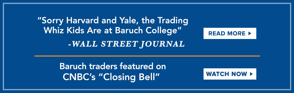 Baruch traders featured on CNBC's closing bell