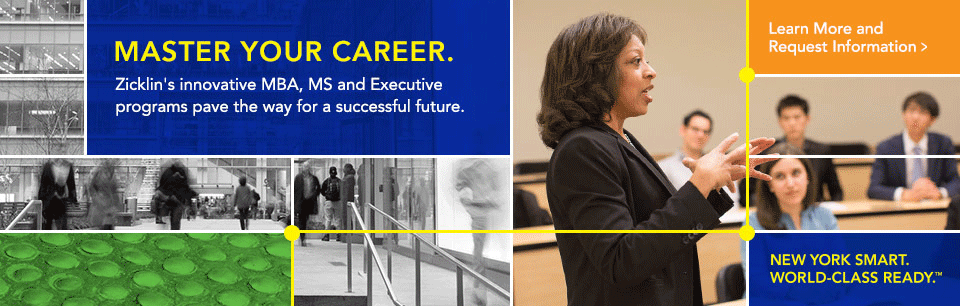 Zicklin's innovative MBA, MS and Executive programs pave the way for a successful future.